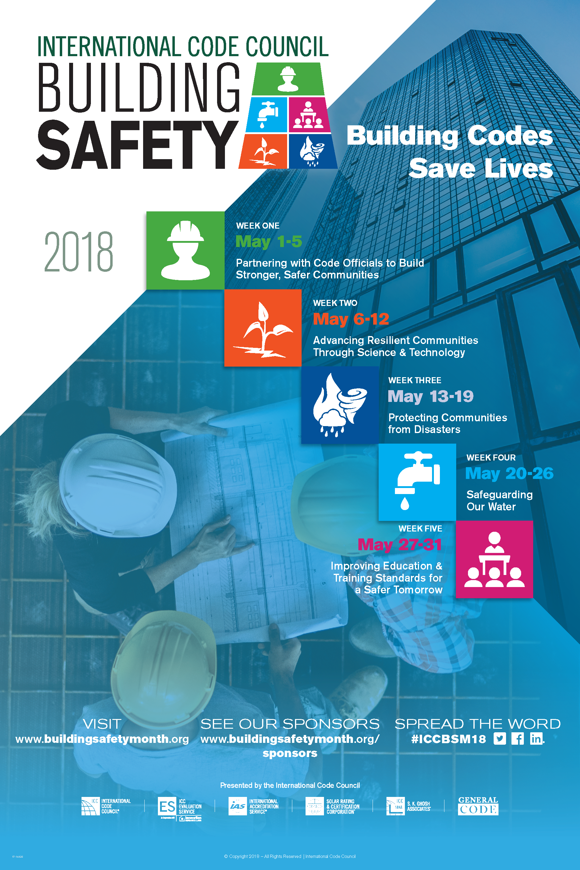 2018 Building Safety Month Poster