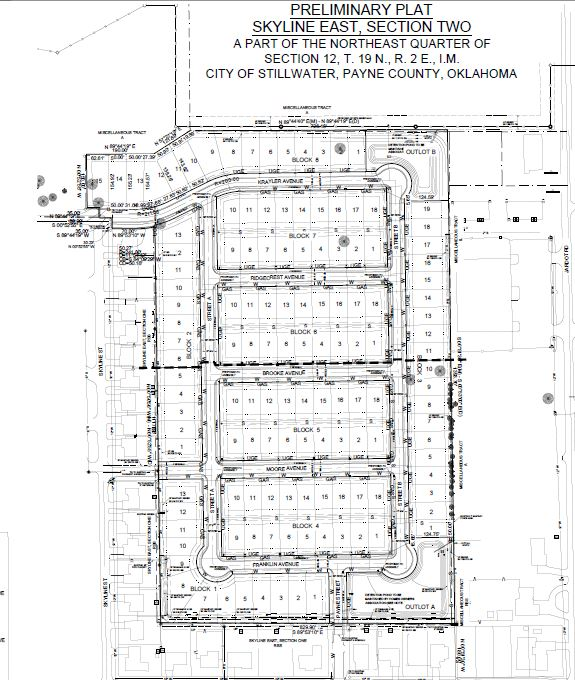Skyline East, 2nd Section Residential Subdivision plans
