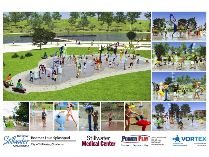 Rendering of Boomer Lake Park splash pad concept
