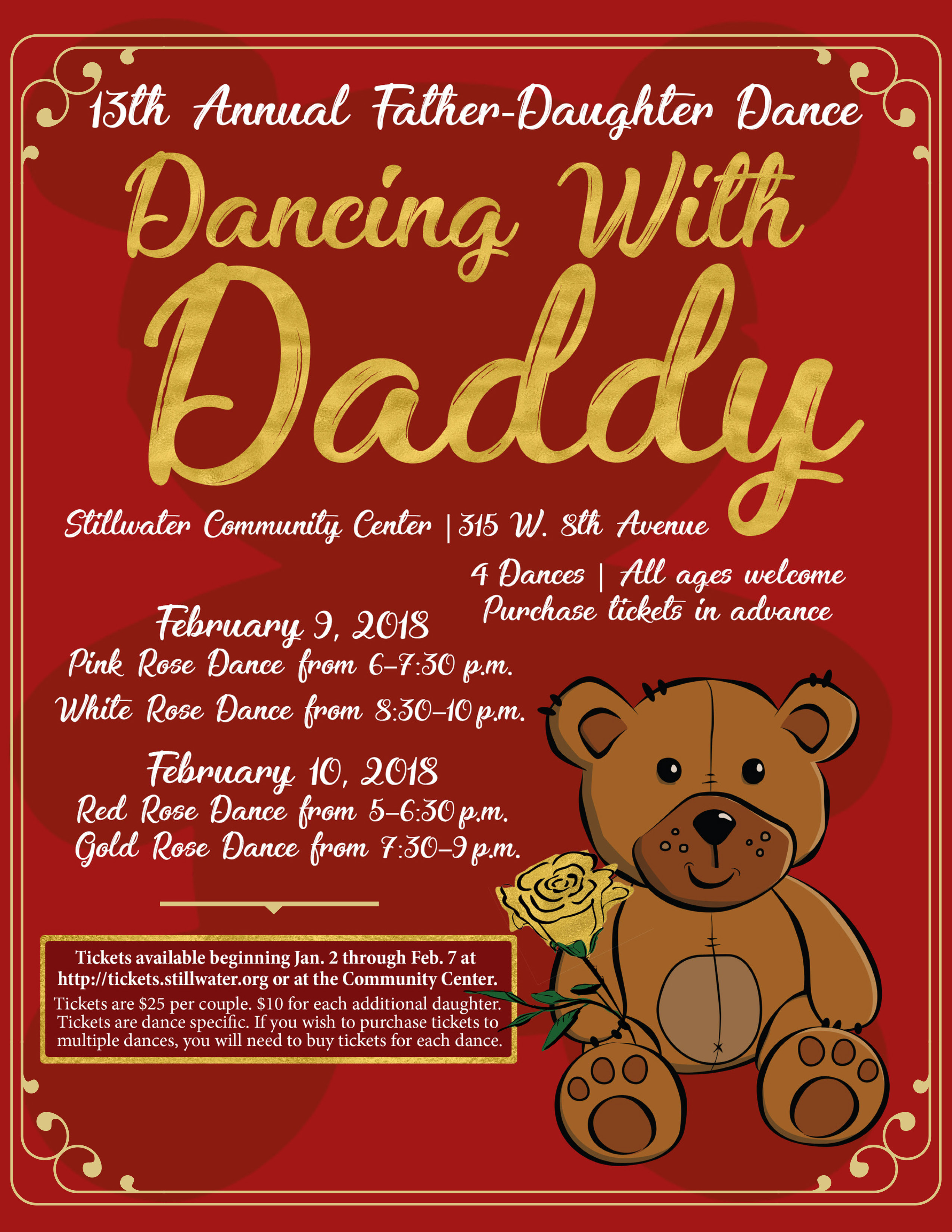 (STILLWATER, OKLAHOMA / Jan. 4, 2018) — Get your dancing shoes ready for  the 13th annual Dancing with Daddy on Friday, Feb. 9 and Saturday, Feb.